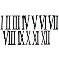 4 inch distressed roman clock numerals