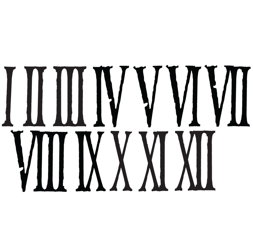 Distressed Roman Numerals - Writings on the Wall