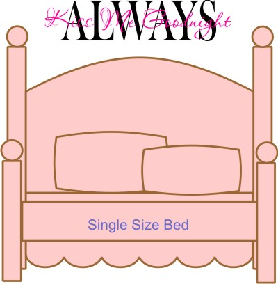 Always kiss me goodnight 2 color #2 size