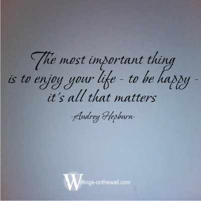 The most important thing - Audrey Hepburn