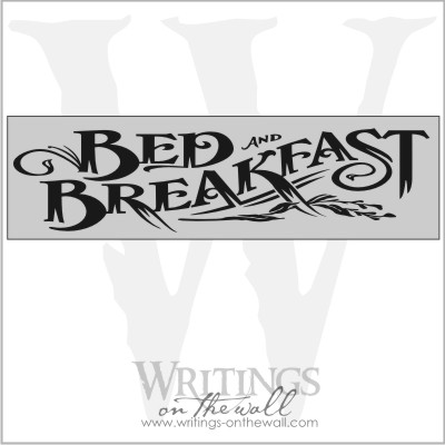 Bed and Breakfast vinyl lettering