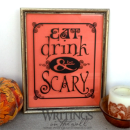 Eat drink and be Scary - vinyl halloween decal