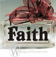 Faith #1 small glass block vinyl decal