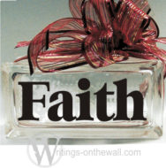 Faith #2 small glass block decal