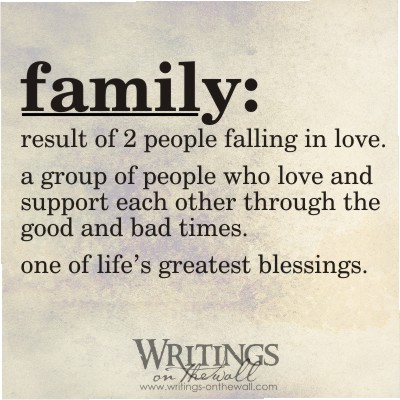 Family Definition - Writings on the Wall