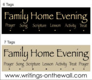 Family Home Evening Chart -  Papyrus