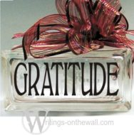 Gratitude Small Glass Block Vinyl decal