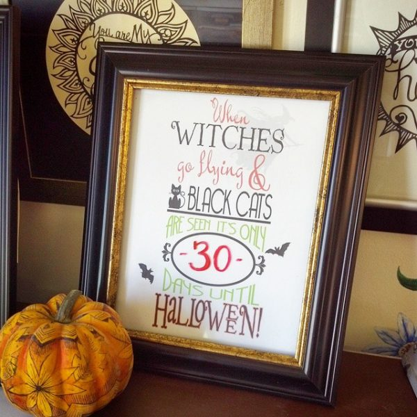 Halloween Countdown Printable free download