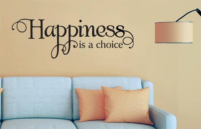 Happiness is a choice large wall decal
