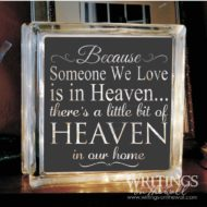 Heaven in our Home - glass block vinyl solid background