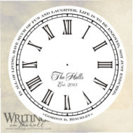 Life is to be enjoyed not just endured, clock face with numbers, script personalization. Vinyl decal for making your own custom clock.