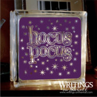 Hocus Pocus solid vinyl for glass block