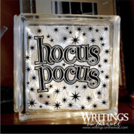 hocus pocus glass block vinyl halloween decor