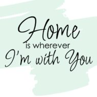 Large vinyl lettering for your walls.  Home is wherever I'm with you.