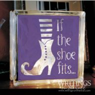 If the shoe fits... glass block vinyl decor