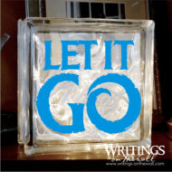 Let it Go Large Glass Block Vinyl Decorative Decal