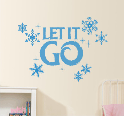 Let it Go with snowflakes - vinyl wall decal