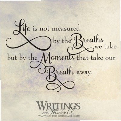 Life Is Not Measured By The Breaths Quote Cool Life Is Not Measuredthe Breaths We Take Butthe Moments