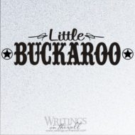 Little Buckaroo vinyl wall decor. Vinyl wall decal.