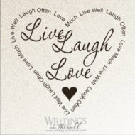 Live Laugh Love Heart