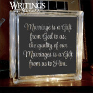 Marriage is a gift from god to us. Large glass block vinyl