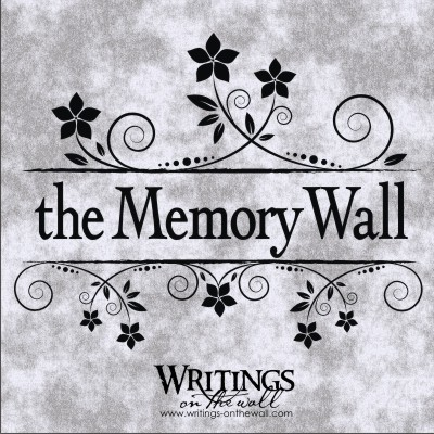 The Memory Wall vinyl wall decal
