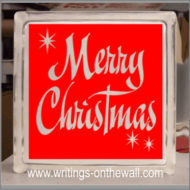 Merry Christmas - solid background - Glass Block Vinyl