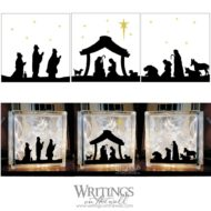 Christmas Nativity 3 Block Vinyl decal set