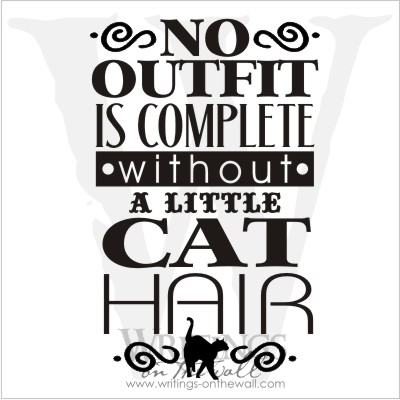 No outfit is complete without a little cat hair