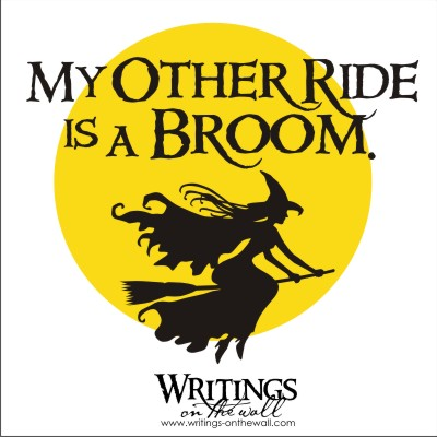 My Other Ride is a Broom 2 color vinyl decal