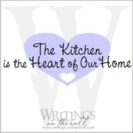 The kitchen is the heart of our home.