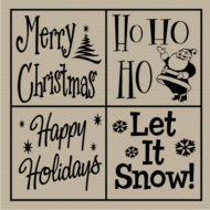4 Way Christmas Tile - vinyl for tile