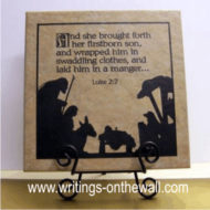 Nativity with scripture - vinyl for 12 x 12 tile
