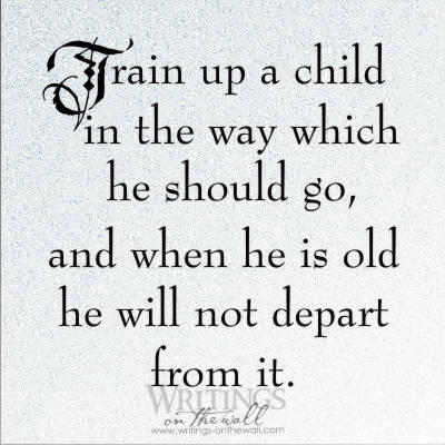 Train up a child in the way he should go - tile