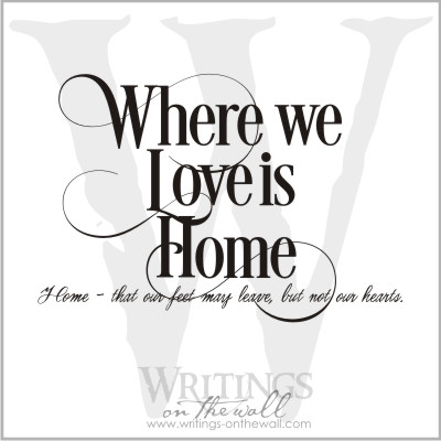 Where we love is home - vinyl lettering for your walls