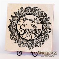 "You Are My Sunshine - vinyl for 12"" tile or wall"