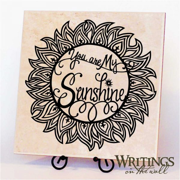 """You Are My Sunshine - vinyl for 12"""" tile or wall"""